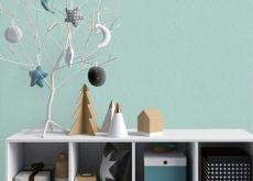 Phòng khách trời âu cuốn hút với giấy dán tường